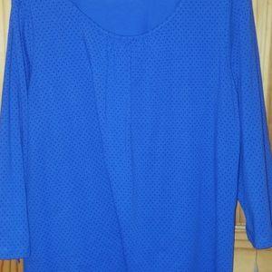 Blue and black polka dot shirt